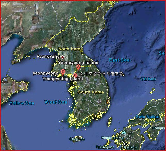 Google Earth Photo of Korea